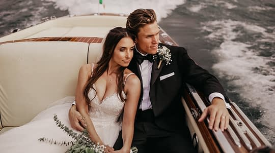 Video frame of this luxury villa wedding in Lago de Como, Italy.